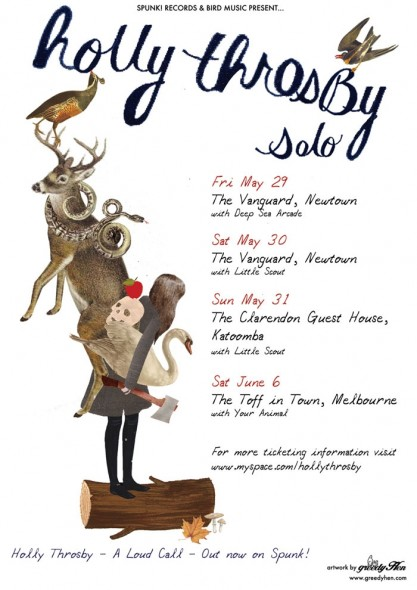 A Holly Throsby tour poster designed by Greedy Hen
