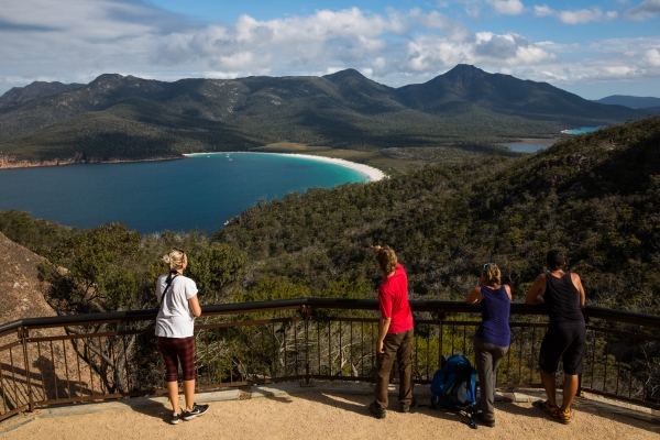 The lookout at Wineglass Bay