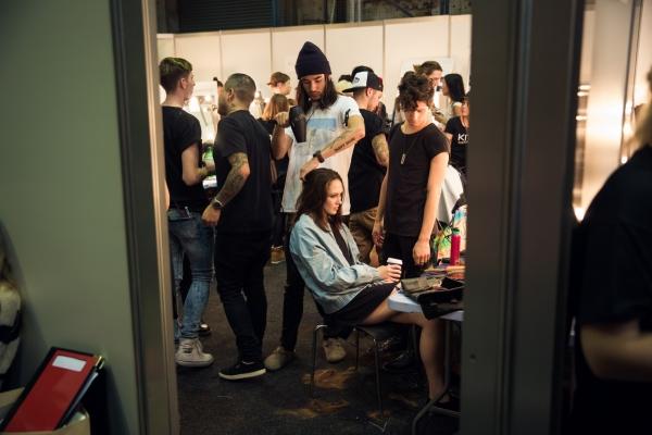Alice McCall backstage MBFWA 2014