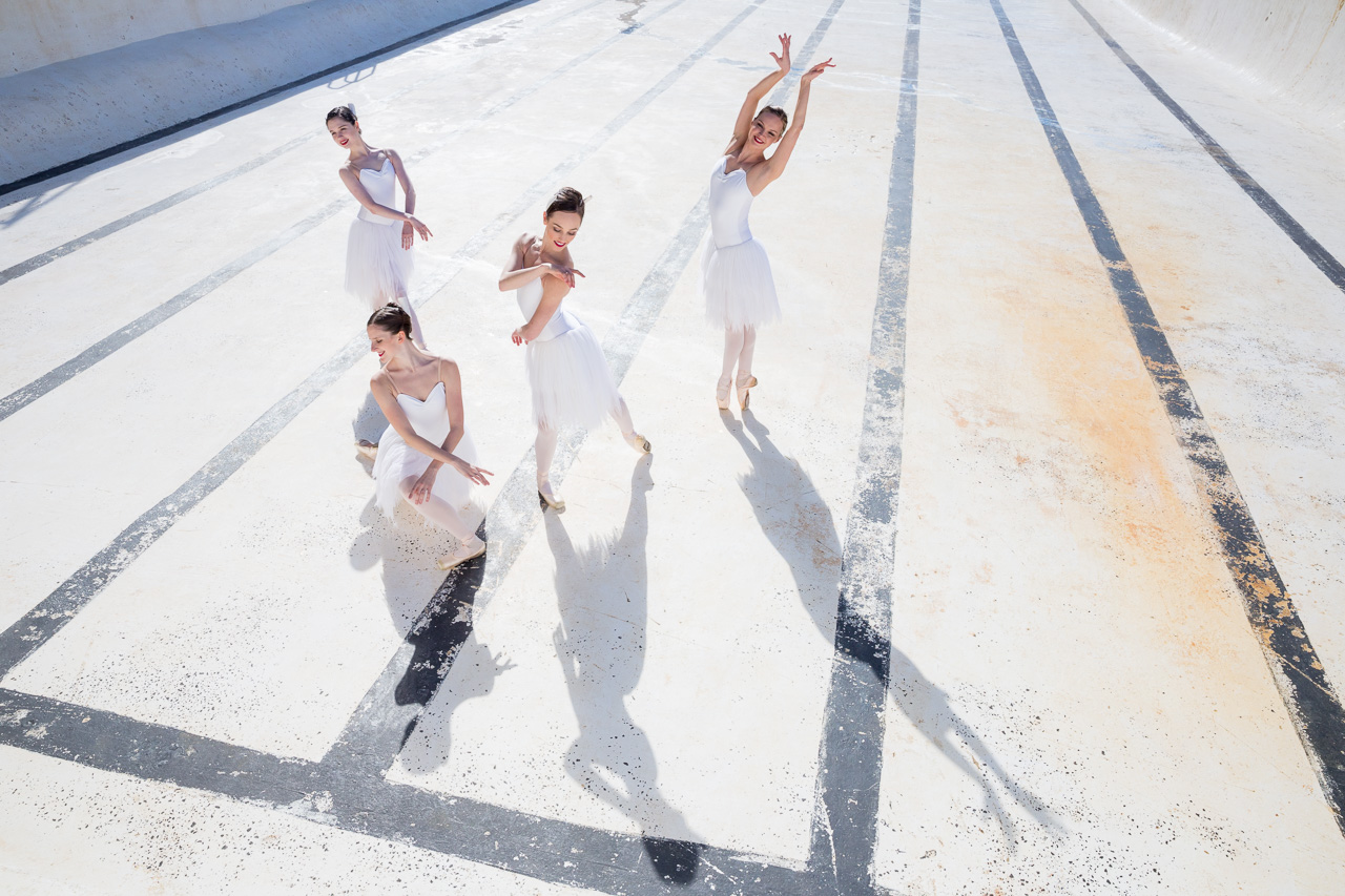 : Australian Ballet Swan Lake dancers at Icebergs