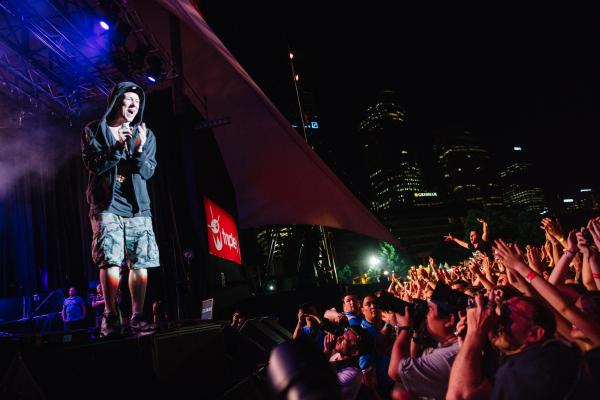: Hilltop Hoods - Triple J's Beat the Drum concert The Domain Sydney