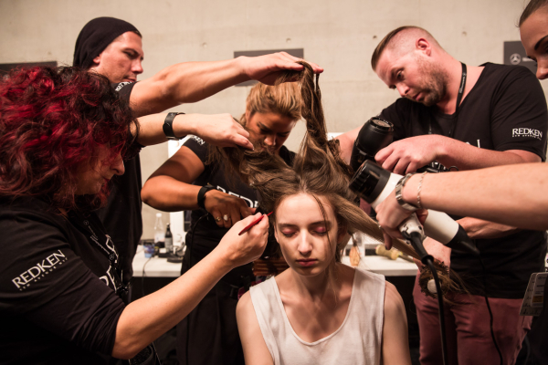 : Kate Sylvester MBFWA Backstage 2015 Carriageworks Sydney