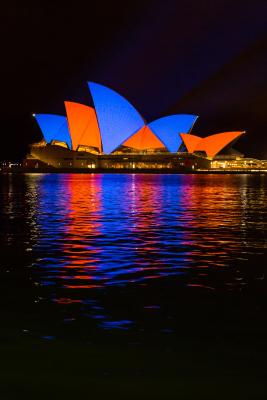 Vivid Sydney 2015 : Lighting of the Sails Sydney Opera House Sydney