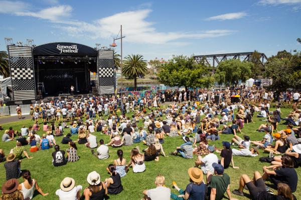 : Mistletone Stage - Melbourne Laneway Festival 2016 Footscray Melbourne